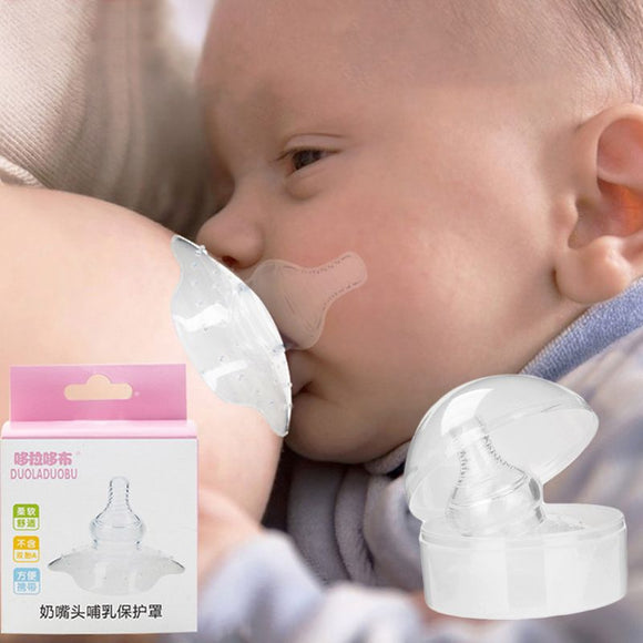 Silicone Nipple Shield Maternity Protector Baby Nursing Breast Milk Feeding Shell