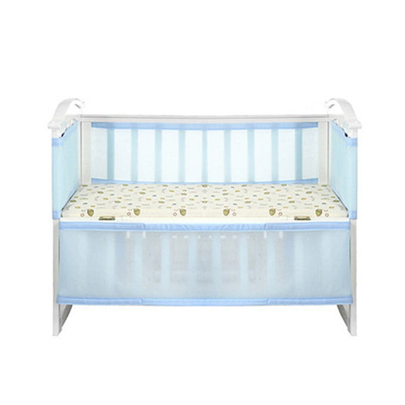 Crib Bumper Newborn Guardrail Home Breathable Kids Nursing Baby Polyester Fiber Nursery Bedding Collision-Proof Safety Washable