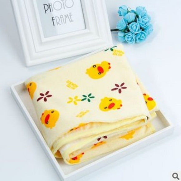 Newborn 100% Cotton Huang Duckling Strawberry Automobile Baby Bed Waterproof Mattress 60*70 Baby Urine Pad Bedding Set sheet