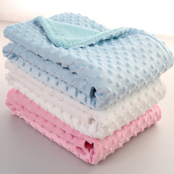 Soft Dot Baby Blanket Blanket Newborn Baby Swaddle Wrap Envelope Bebe Wrap Newborn Infant Bedding Blankets