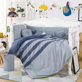 Fashion Cotton Washed Cotton Baby Bedding Multi-piece Baby Bumper Multi-piece