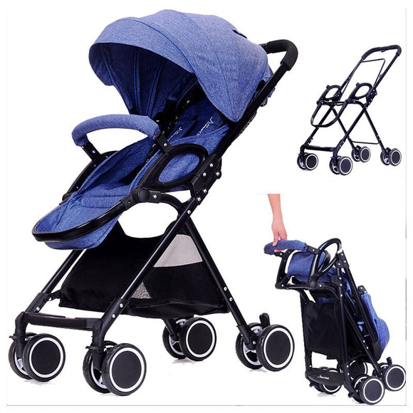 High Landscape Ultra Baby Stroller Portable Lightweight Flat Lie Suspension Umbrella Car Baby Stroller Pram Pushchair Removable