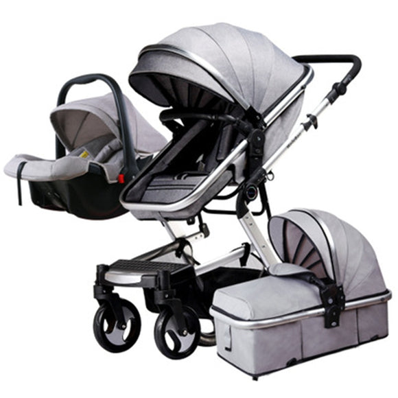 Multi-functional High-view Baby Strolley  Pam Four Wheels Folding Baby Trolley Kids Stroller Carriage Pushchair For Newborns