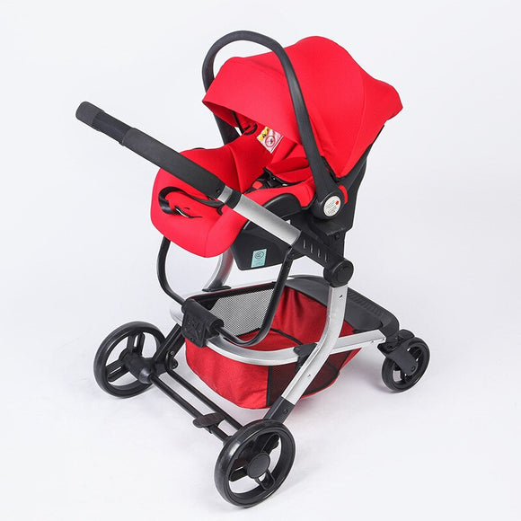 Multifunctional High Landscape Baby Push Car Basket Safety Seat Can Sit Reclining Two-way Baby Stroller