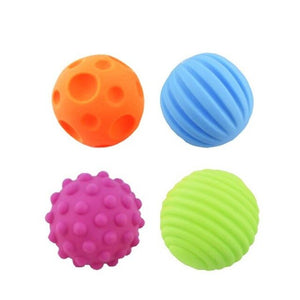 4/6pcs Baby Multi Textured Soft Balls Educational Early Tactile Senses Toys Educational Early Rattle Activity Toys for Babys
