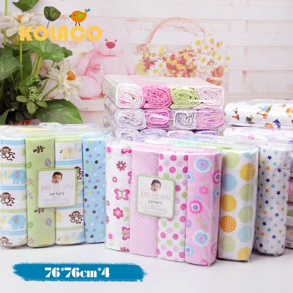 4 pcs/lot newborn Baby bed sheets 100% cotton crib sheet  76 x 76 cm baby bedding set super soft infant sheets for boys girls