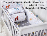 Promotion! 6/7PCS crib bed around cot nursery baby bedding set crib bumper ,120*60/120*70cm