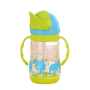 280ml Baby Cup Kids Children Learn Feeding Drinking Water Straw Handle Bottle mamadeira Sippy Training Cup Baby Feeding Cup