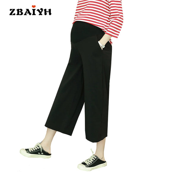 Maternity pants loose pregnancy clothes summer fashion calf-length pregnant women clothing Wide leg moda gestantes pant AYF-K010