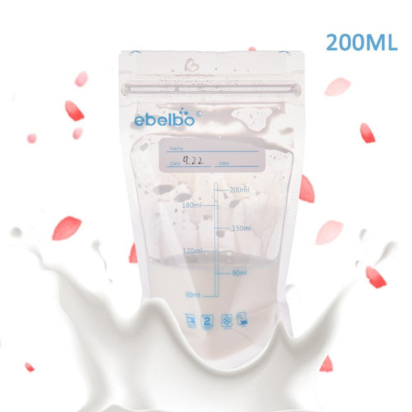 30 PCS Mother Baby Supplies Breast Milk Storage Bag 200 ML Polyethylene Food Grade Maternal Baby Storage Milk Pouch