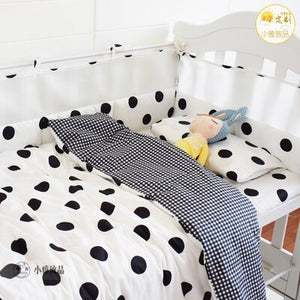 Infant Nursery Cot Bedding Set Baby Cot Bedding Bumper Organizer Crib Bumpers 4 Pieces Bumpers Pillowcase Qulit Cover Crib Sheet