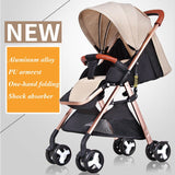 High Landscape Baby Stroller Cart Lightweight Portable Baby Pram Sit Lie Down Aluminium Alloy Baby Travel Car Pushchair Trolley