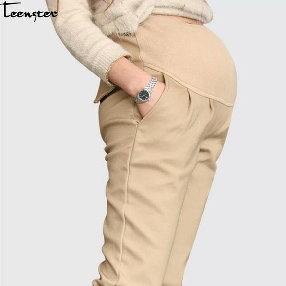 Teenster Pregnancy Maternity Clothing Maternity Support Pants Premama Trousers Casual Clothing Work Clothes for Pregnant Women
