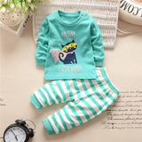 New 2019 Baby Boy Clothes Cotton Baby Girl Clothing Sets Cartoon Long-sleeved T-shirt+Pants Infant Clothes 2pcs Suit