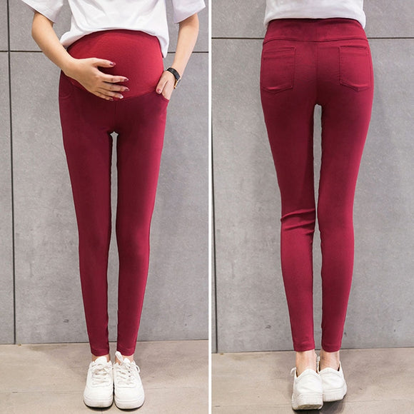 Skinny Maternity Pants For Pregnant Women Clothes Stretch Pencil Pants Nursing Leggings Pregnancy Clothing Spring Wear 6 Colors