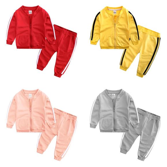 Brand Baby Boy Clothes Suits Casual Baby Girl Clothing Sets Children Suit Sweatshirts+Sports pants Spring Autumn Kids Set SY314