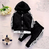 2019 Spring Baby Casual Tracksuit Children Boy Girl Cotton Zipper Jacket Pants 2Pcs/Sets Kids Leisure Sport Suit Infant Clothing