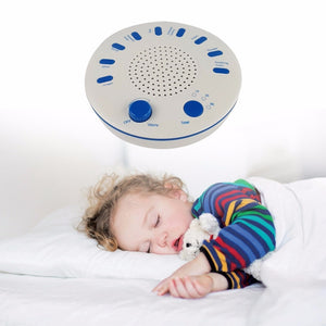 White Noise Baby Sleep Machine Soothers Rechargeable Sleep Helper with Nature Music Sound Machine for Sleep Relax Christmas Gift