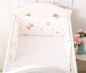 Crib Bumper Around Cot Baby Nursery Crib Sets Bumpers for Infant Cot Cradle Cartoon Boy Girl Cot Bedding Long Bumper 180x30cm