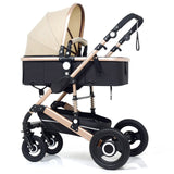 Baby Stroller 3 in 1 High-Landscape bidirectional Baby buggy Pram Portable Folding strollers baby car Carriage Baby pushchair