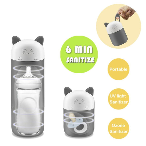 Cartoon Kitten UV Ozone Sterilizer Hook Portable Multi-functional Traveling feeding supplies