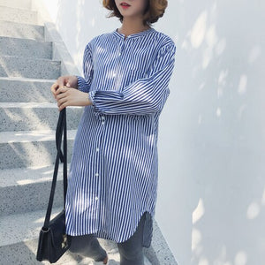 Pregnant Clothes Maternity Shirt Spring and Autumn Pregnancy Wear Clothing Pregnant Woman's Shirts Striped O-neck Long Shirt