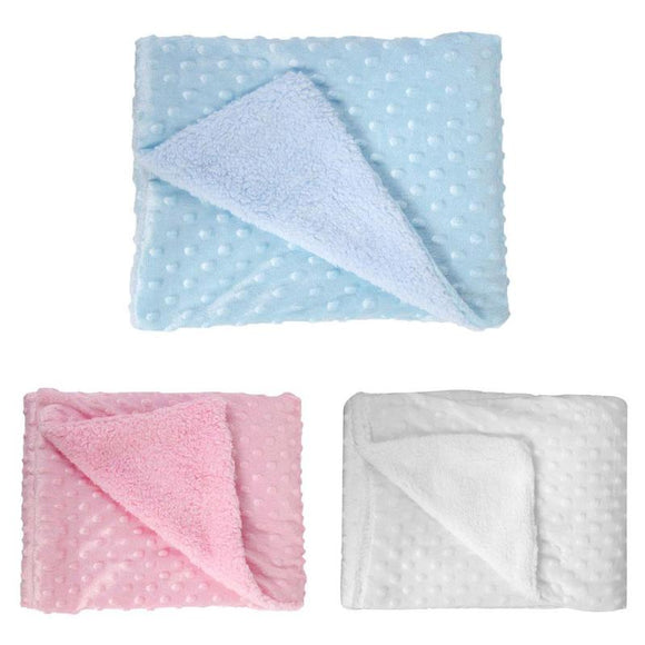 Soft Baby Stroller Sleep Cover Baby Blankets Warm Fleece Newborn Infant Bedding Quilt Swaddling Wrap Kids Bath Towel Bed Swaddle