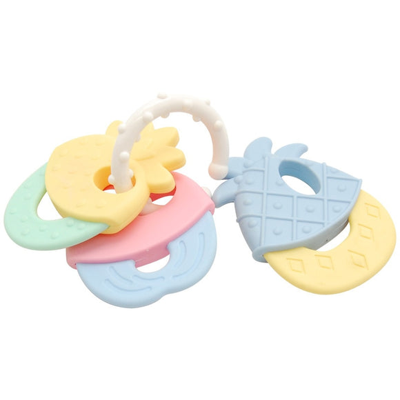 1PC Safe Baby Teether Toys Baby Cute Crib Rattle Bendable Activity Training ToothBrush Toy Cheapest High Quality Environmentally