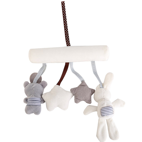 Stroller Accessories Baby Crib Rattles Plush Toys Soft Rabbit Rattles Pram Rattle Hanging For Stroller Newborn Bed Pendant Bell