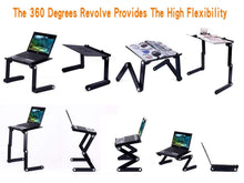 Load image into Gallery viewer, Laptop Table Stand With Adjustable Folding Ergonomic Design