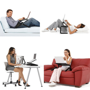 Laptop Table Stand With Adjustable Folding Ergonomic Design