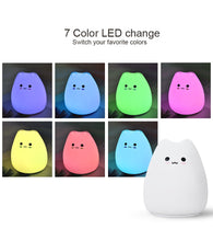 Load image into Gallery viewer, LED Night Creative Sleeping Bulb Cute Cat 7 Color