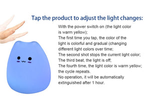 LED Night Creative Sleeping Bulb Cute Cat 7 Color