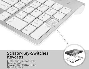 2.4G Wireless Silent Keyboard and Mouse Combo Set
