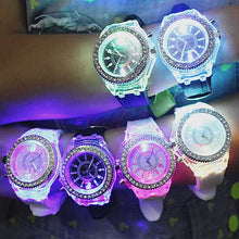 Load image into Gallery viewer, LED Sport Watches Geneva Luminous Wristwatches Glowing 8 Colors