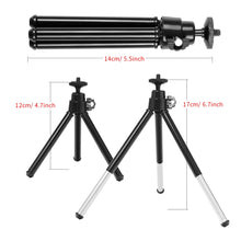 Load image into Gallery viewer, Mini LED Desktop Video Ring Light Selfie Lamp With Tripod 6 Inch
