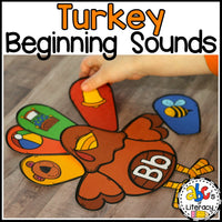 Turkey Beginning Sounds Sort