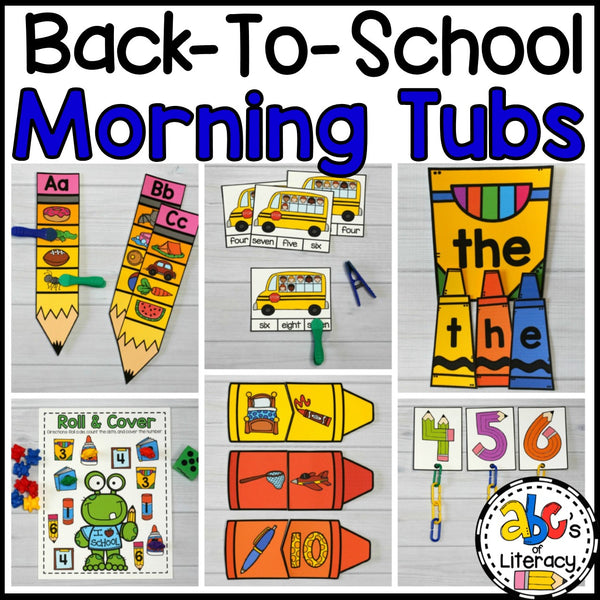 Back-To-School Morning Tubs