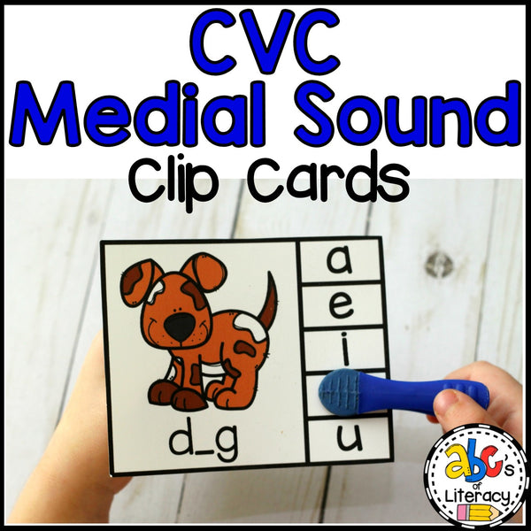 CVC Medial Sound Clip Cards