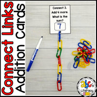 Connect Links Addition Task Cards