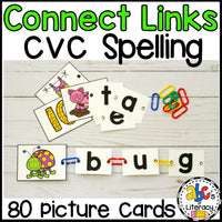 Connect Links CVC Spelling Activity