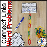 Connect Links Addition Word Problem Cards