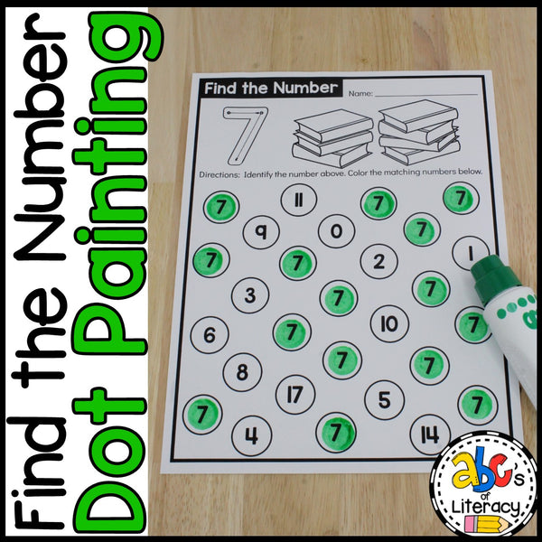 FInd The Number: Number Recognition Worksheets