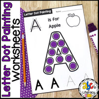 Letter Dot Painting Worksheets