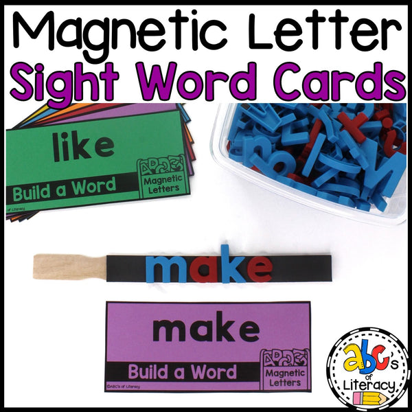 Magnetic Letter Sight Word Cards