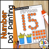 Number Dot Painting Worksheets
