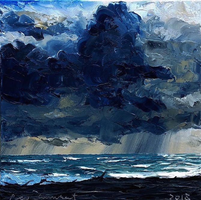 Storm Clouds and Rainfront, Komene Beach