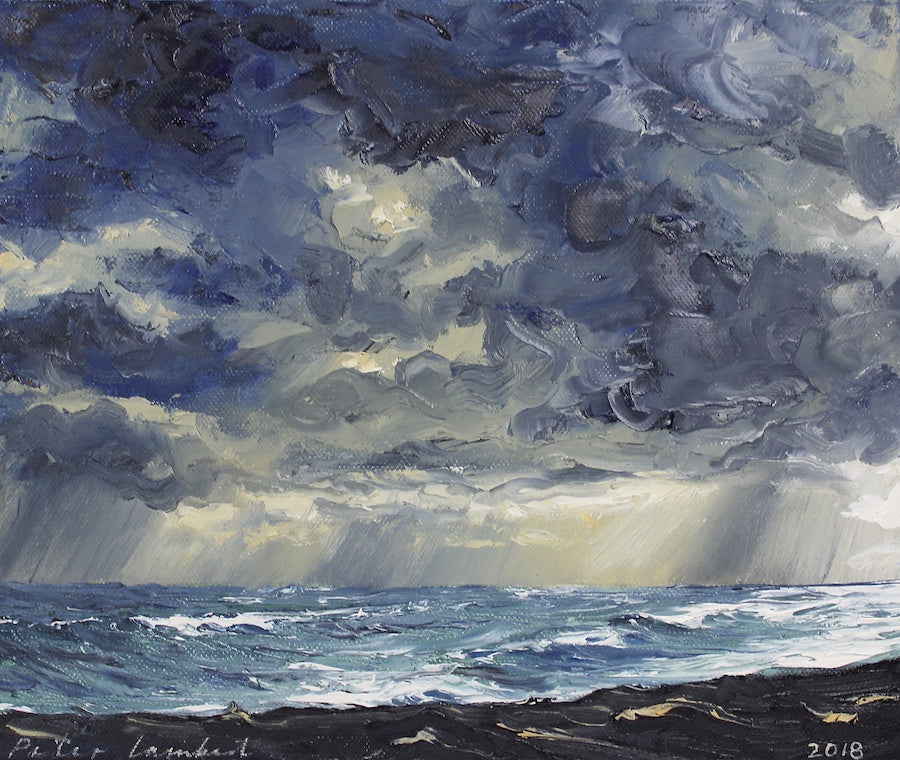 Rain fronts Komene Beach (SOLD)