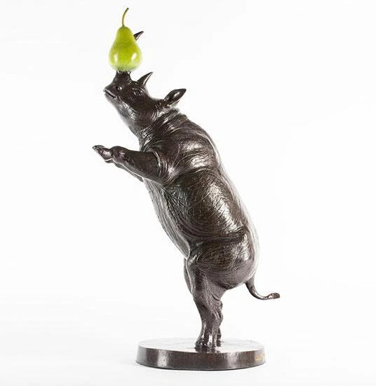 He was a rhino of many talents and loved pears