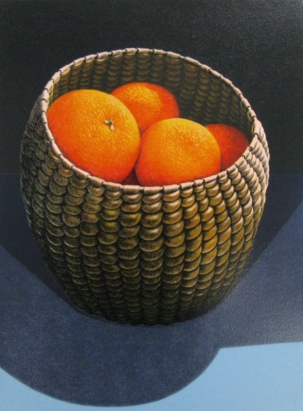 Oranges in a Seagrass Basket (Large)